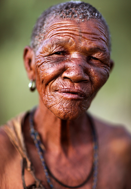 Old woman, Bushmen